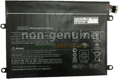 HP Notebook X2 10-P010NR Battery